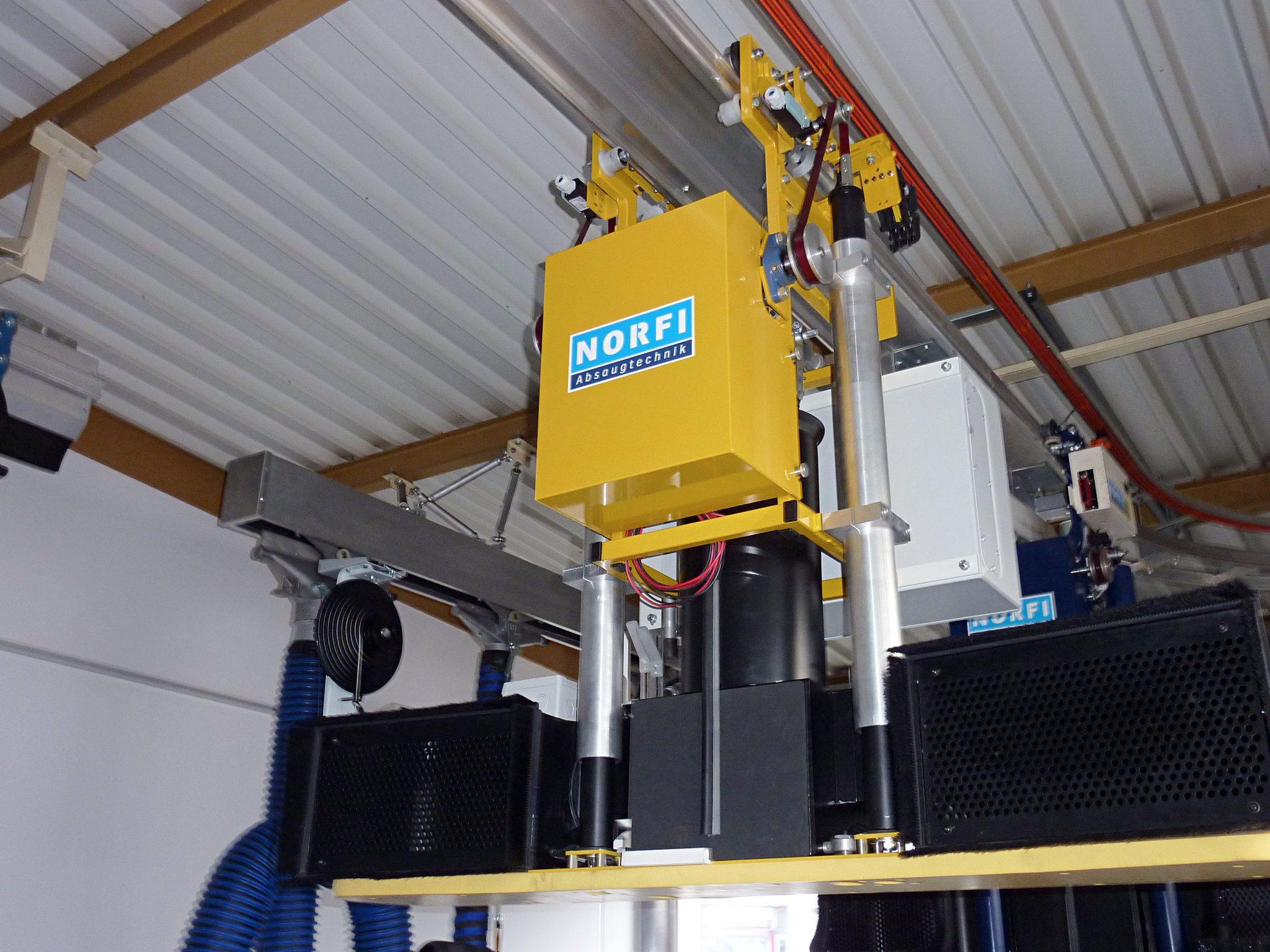 Foto eines Fertig montierter Teleskopsaugwagen